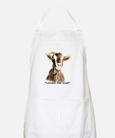 Lovable Old Goat Fun Quote for Him Apron