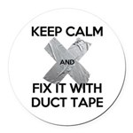 duct tape Round Car Magnet