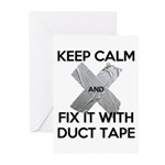 duct tape Greeting Cards