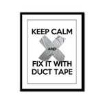 duct tape Framed Panel Print