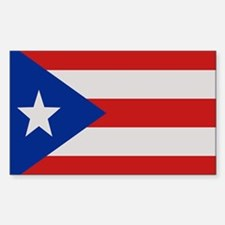 """Puerto Rico Flag"" Rectangle Decal"