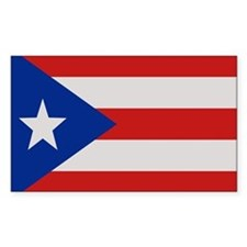 """Puerto Rico Flag"" Rectangle Stickers"