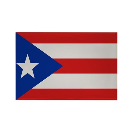 """Puerto Rico Flag"" Rectangle Magnet (10 pack)"
