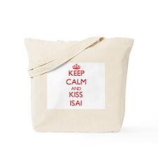 Keep Calm and Kiss Isai Tote Bag