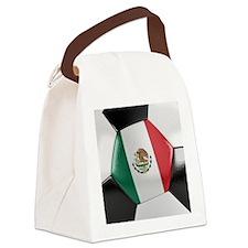 Mexico Soccer Ball Canvas Lunch Bag