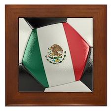 Mexico Soccer Ball Framed Tile