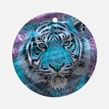 Crazy blue Tiger (C) Ornament (Round)