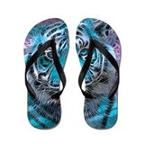 Colorful tigers Flip Flops