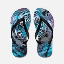 Crazy blue Tiger (C) Flip Flops