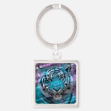 Crazy blue Tiger (C) Keychains