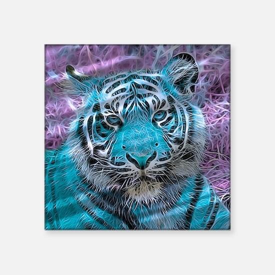 Crazy blue Tiger (C) Sticker