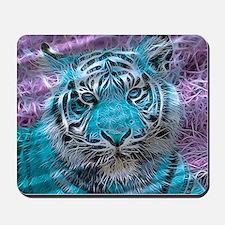 Crazy blue Tiger (C) Mousepad
