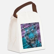 Crazy blue Tiger (C) Canvas Lunch Bag