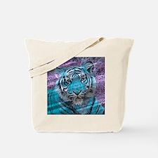 Crazy blue Tiger (C) Tote Bag