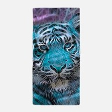 Crazy blue Tiger (C) Beach Towel