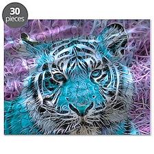 Crazy blue Tiger (C) Puzzle
