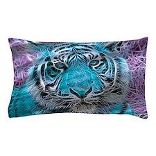 Crazy blue Tiger (C) Pillow Case
