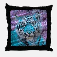 Crazy blue Tiger (C) Throw Pillow