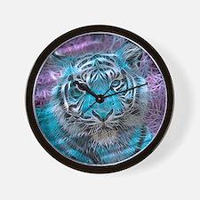 Crazy blue Tiger (C) Wall Clock