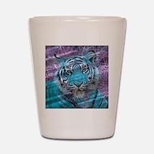 Crazy blue Tiger (C) Shot Glass