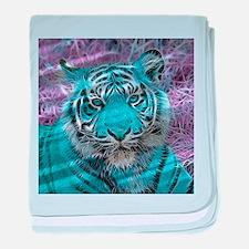 Crazy blue Tiger (C) baby blanket