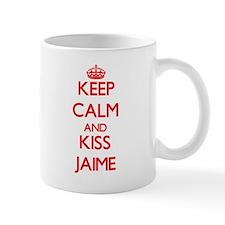 Keep Calm and Kiss Jaime Mugs