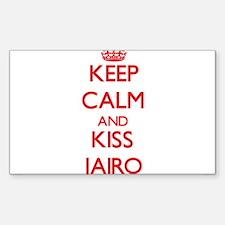 Keep Calm and Kiss Jairo Decal