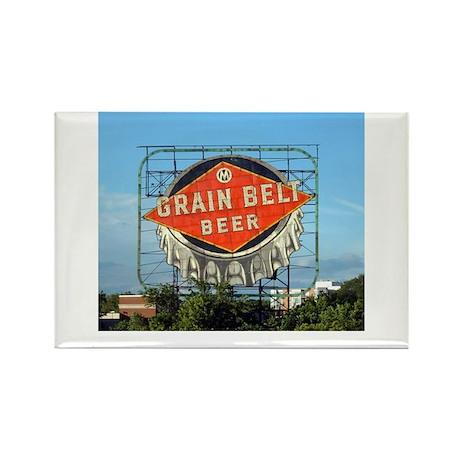 Minneapolis Grain Belt Sign Rectangle Magnet