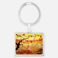 Apple Tree with Red Fruit Landscape Keychain