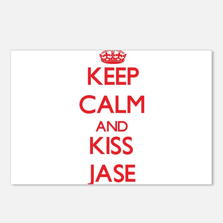 Keep Calm and Kiss Jase Postcards (Package of 8)