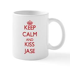 Keep Calm and Kiss Jase Mugs