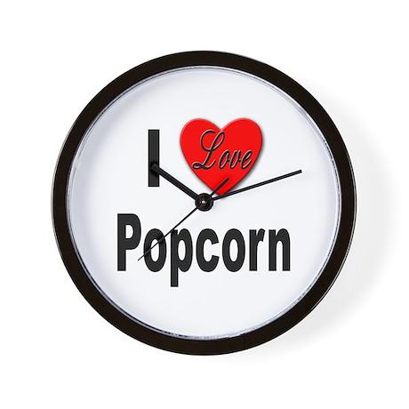 I Love Popcorn Wall Clock
