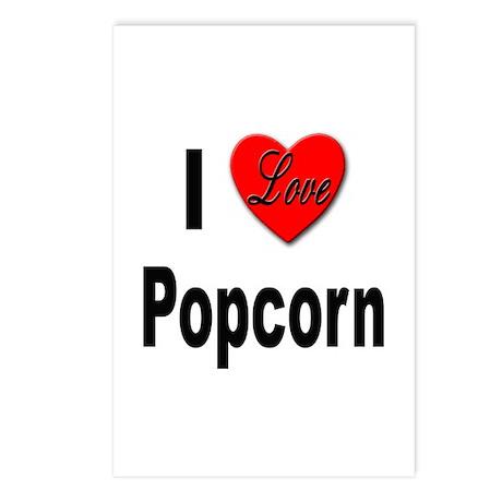 I Love Popcorn Postcards (Package of 8)