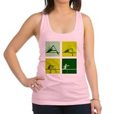 dragon boat paddling step by st Racerback Tank Top