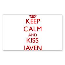 Keep Calm and Kiss Javen Decal