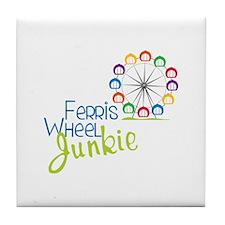 Ferris wheel Junkie Tile Coaster