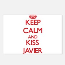 Keep Calm and Kiss Javier Postcards (Package of 8)