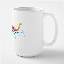 fantastic dragon boat Large Mug