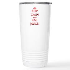 Keep Calm and Kiss Javion Travel Mug