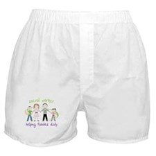 social worker Helping Families Daily Boxer Shorts
