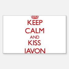 Keep Calm and Kiss Javon Decal