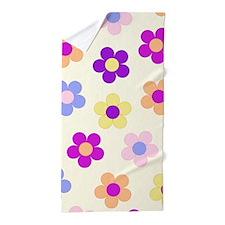 Flower Power Design Beach Towel