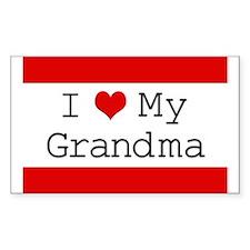 I Heart My Grandma Rectangle Decal