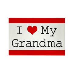 I Heart My Grandma Rectangle Magnet (10 pack)