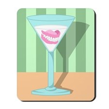Dentures False Teeth Martini Mousepad