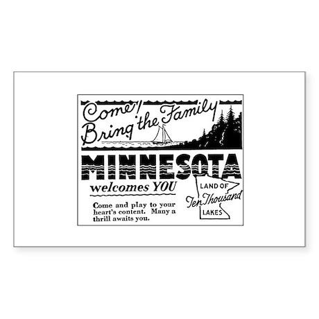 Thrilling Minnesota Retro Ad Rectangle Sticker