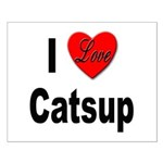 I Love Catsup Small Poster