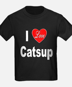 I Love Catsup (Front) T