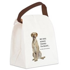 Yellow v. Wife Canvas Lunch Bag