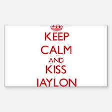Keep Calm and Kiss Jaylon Decal